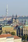 Luftaufnahme von Prag Stockfotografie