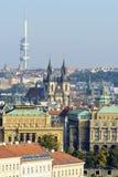 Luftaufnahme von Prag Stockfoto