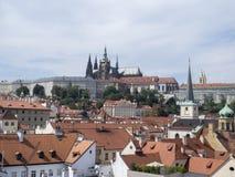 Luftaufnahme von Prag Lizenzfreie Stockfotografie