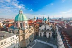 Luftaufnahme von Prag, Tschechische Republik stockfotos