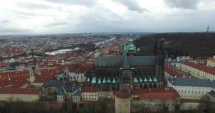 Luftaufnahme von Prag, Tschechische Republik stock video footage
