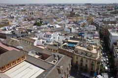 Luftaufnahme von Sevilla Stockbild