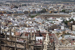 Luftaufnahme von Sevilla Stockfotografie