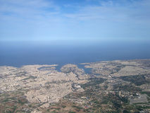 Luftaufnahme von Valletta Stockfotos