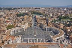 Luftaufnahme von Vatican Stockfoto