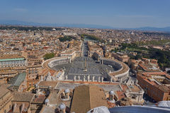 Luftaufnahme von Vatican stockbilder
