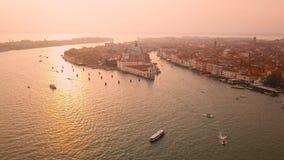 Luftaufnahme von Venedig Italien stock video