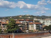 Luftaufnahme von Verona lizenzfreies stockbild