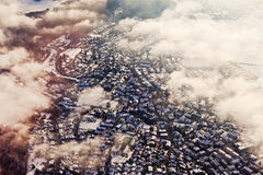 Luftaufnahme von Zürich stockfotografie