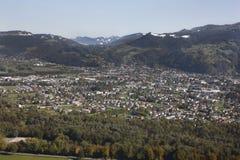 Luftaufnahme Vorarlberg Österreich Stockfotografie