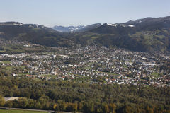 Luftaufnahme Vorarlberg Austria Fotografía de archivo