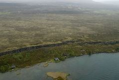 Luftaufnahme zur tectonical Störung Stockfotografie