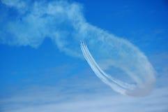 luftbakgrundsshow arkivfoto
