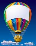 Luftballon im Himmel Stockfotos