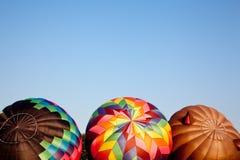 luftballonger som är varma uppblåst tre Arkivbilder