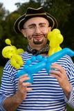 luftballonsmannen piratkopierar le dräkt tre Royaltyfri Bild