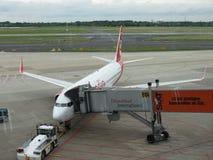 LuftBerlin Airlines flygplan Arkivbild