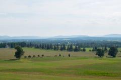Luftbild über dem Schauen des ländlichen Gebietes in Gettysburg, Pennsylvania Stockfoto