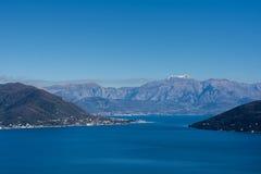 Luftbild der adriatisches Seelandschaft Stockfotos