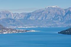 Luftbild der adriatisches Seelandschaft Stockbilder