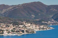 Luftbild der adriatisches Seelandschaft Stockfoto