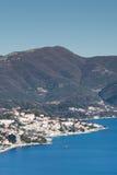 Luftbild der adriatisches Seelandschaft Lizenzfreie Stockfotos