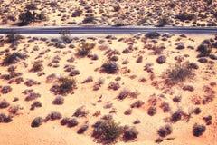 Luftbild einer verlassenen Straße, Reisekonzept Lizenzfreie Stockfotografie