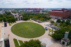 Luftbild Nashville-öffentlicher Platz Lizenzfreie Stockfotografie