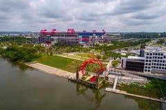 Luftbild Nissan Stadium Nashville Tennessees lizenzfreies stockbild