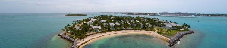 Luftbild Sonnenuntergang-Insel Key West Stockbilder