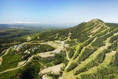 Luftbild von Mt Alpines Skiort Washingtons BC Kanada stockfotos
