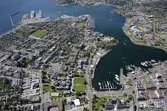Luftbild von Victoria BC Kanada lizenzfreies stockbild