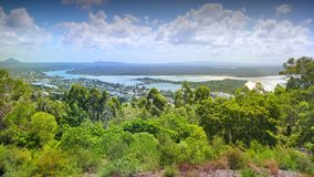 Luftbildbild von Noosa vom Ausblick Stockbild