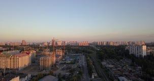 Luftbildfotografie der Stadt von Kiew stock footage