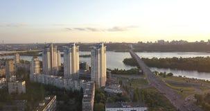 Luftbildfotografie der Stadt von Kiew stock video footage