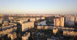 Luftbildfotografie der Stadt von Kiew stock video