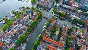 Luftbildfotografie des Montelbaanstoren in Amsterdam stockbilder