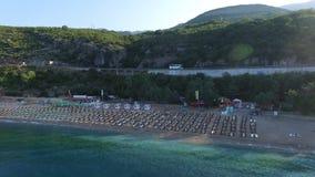 Luftbildfotografie des Strandes, das adriatische Meer stock video