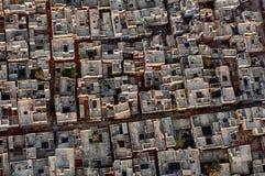 Luftbildfotografie durch Heißluft-Ballon über Jaipur, Indien lizenzfreies stockbild