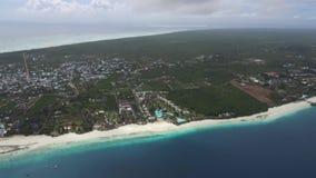 Luftbildfotografie-Sansibar-Insel stock footage