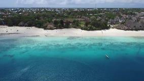 Luftbildfotografie-Sansibar-Insel stock video footage