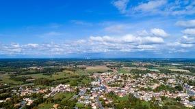 Luftbildfotografie von Dorf Arthon en Retz lizenzfreie stockbilder
