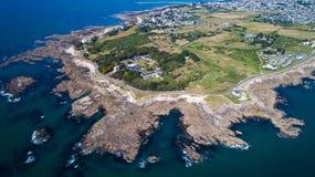 Luftbildfotografie von Punkt Le Croisic stockfoto