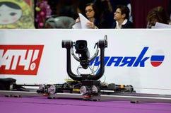 Luftbildkamera auf Schiene lizenzfreies stockbild