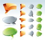 Luftblase der Sprache-3D Lizenzfreie Stockfotos