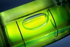 Luftblase im waagerecht ausgerichteten Hilfsmittel Lizenzfreie Stockfotografie