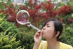 Luftblase und gril Stockbild