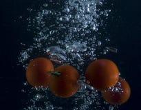 Luftblase und Tomate Lizenzfreie Stockbilder