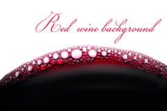Luftblasen des Rotweins Stockbild