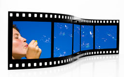 Luftblasen-Film-Streifen Stockfotos